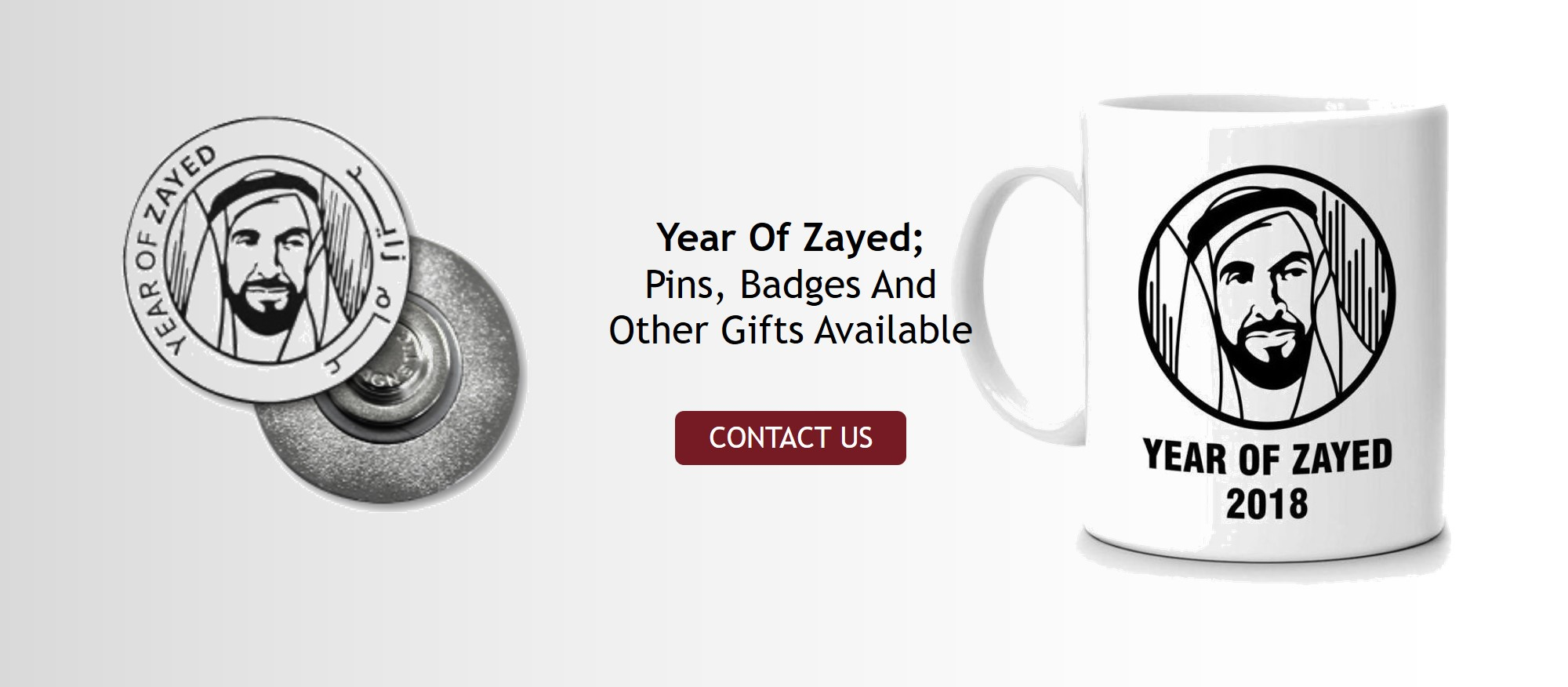 Year Of Zayed Pins, Badges And Other Gifts Available